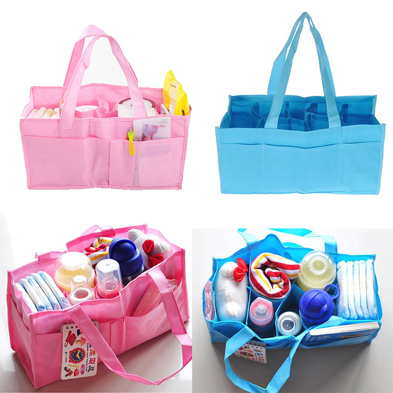 New Multifunctional Mummy Bags Bottle Storage Separate Bag,Nappy Maternity Handbag Baby Tote Diaper Organizer Candy Color 1PCS
