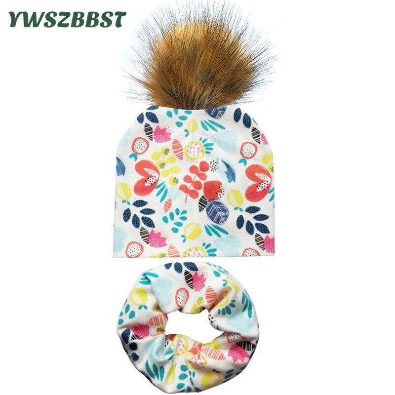 f33c3f8b0 2019 New Spring Baby Hat Pom Pom Ball Hat Baby Girls Boys Beanies Cap  Autumn Winter Kids Child Scarf Collar Infant Hats Baby Cap