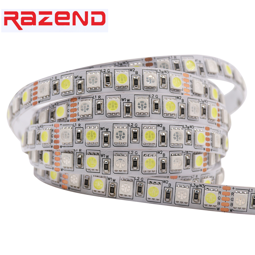 DC 24V 72leds/m 5M RGBW Led Strip 5050 SMD 5m 360leds Waterproof Flexible Rope Light  RGB White/Warm White , Hight Brigtness