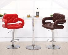 Private villa living room chair retail red black red wine color Country bar stool free shipping