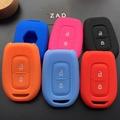 Чехол для автомобильного ключа ZAD, силиконовый резиновый чехол для Renault Duster dacia scenic master megane, 2 кнопки, чехол для пульта ДУ