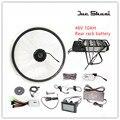 """Vendas Promocional Bateria 48V10AH Bicicleta Elétrica Kit Com Rack Traseiro E Chaleira 350 W/500 W Motor Para 26 """"27.5"""" 28 """"Kit ebike"""