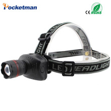 LED headlamp headlight flashlight head lamp light High Power Waterproof Cree Zoom Lamps Camping Hunting Bike Bicycle Moving