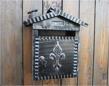 Villa mailbox / newspaper boxes / European-mail / outdoor pastoral retro-mail / message box / mailbox/Home decor
