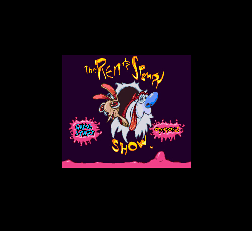 Ren & Stimpy Show, The - Time Warp 16 Bit Big Gray Game Card For NTSC USA Game Console