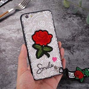 Новый сексуальный ретро кружевной цветок розы с ремешком Тонкий чехол для Iphone 11 Pro Max XR XS MAX X 8 7 6 6s Plus