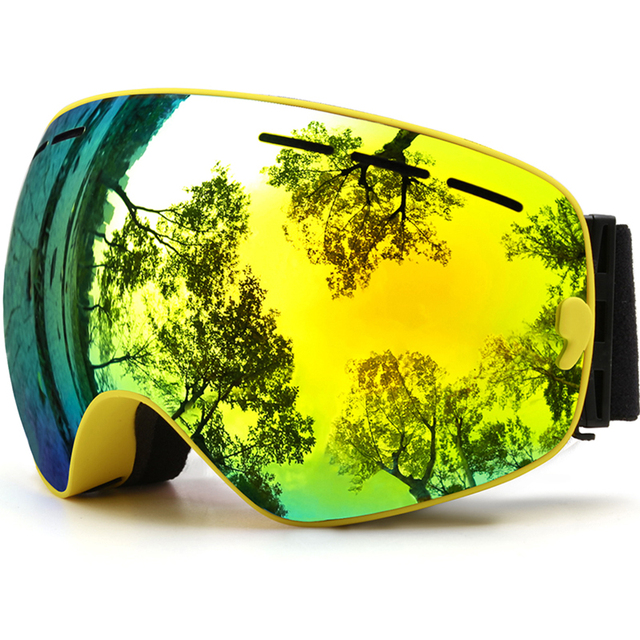 Ski Goggles, Winter Snow Sports Snowboard Goggles with Anti-fog UV Protection for Men Women Youth Snowmobile Skiing Skating mask
