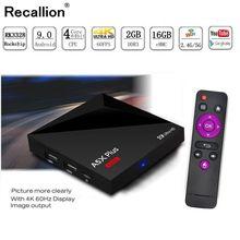 RECALLION A5X Max 2GB RAM 1G6B ROM Smart TV BOX Android 9.0 RK3328 Quad Core2.4G WiFi 4K BT 4.1 IPTV Set-top box Media Player mxq 4k mxq 4k android tv box rk3229 2gb ram 8g rom bt 4 0 2 4g wifi hdmi2 0 iptv top box google play store media player pk x96