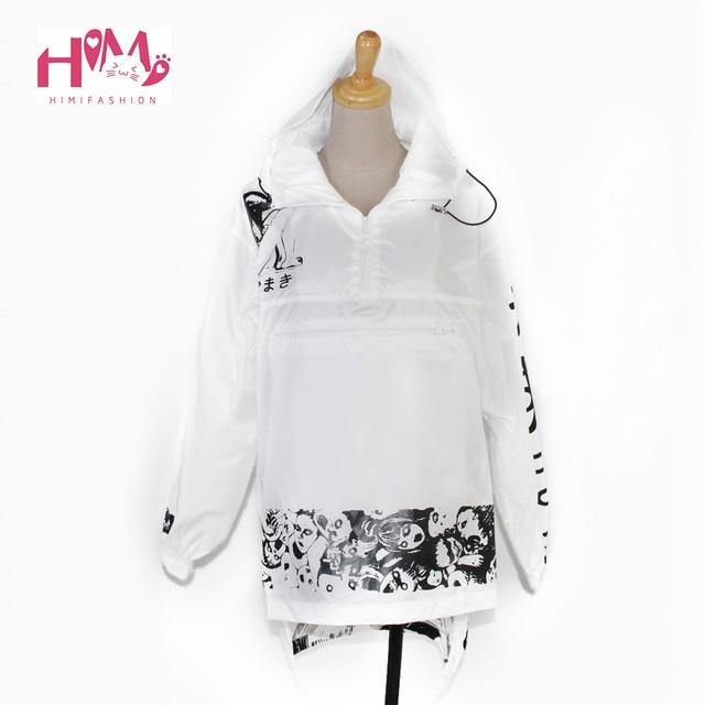 Унисекс уже ветровка комиксов пальто длинные солнцезащитный крем водонепроницаемой одежды плюс Размеры панк ветровка Для женщин ужас Manga куртка