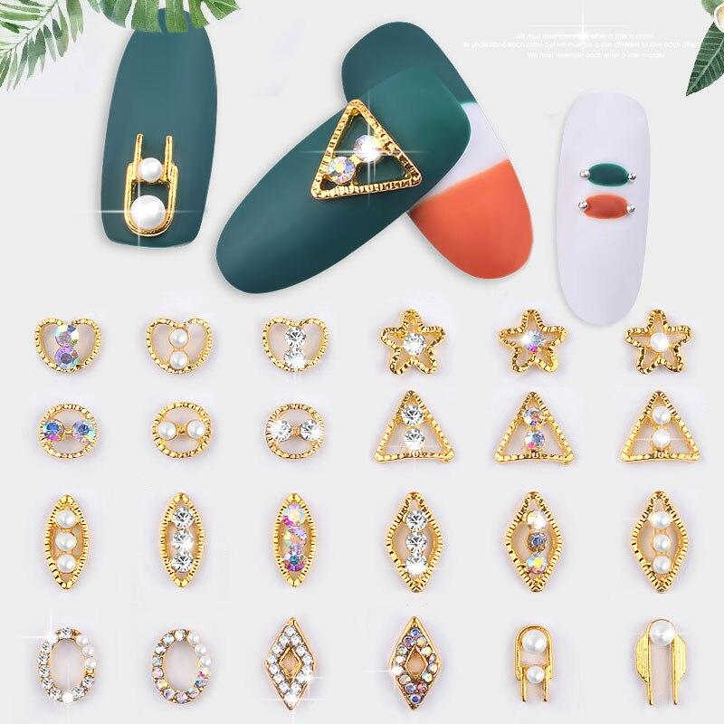 Loose Beads Symbol Of The Brand 10pcs Superior Alloy Jewelry Gems Nail Art Decoration Glitter Rhinestones #13 Health & Beauty