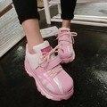 Повседневная обувь женская мода обувь 2016 новый Милый подошва высших туфли на платформе Розовый