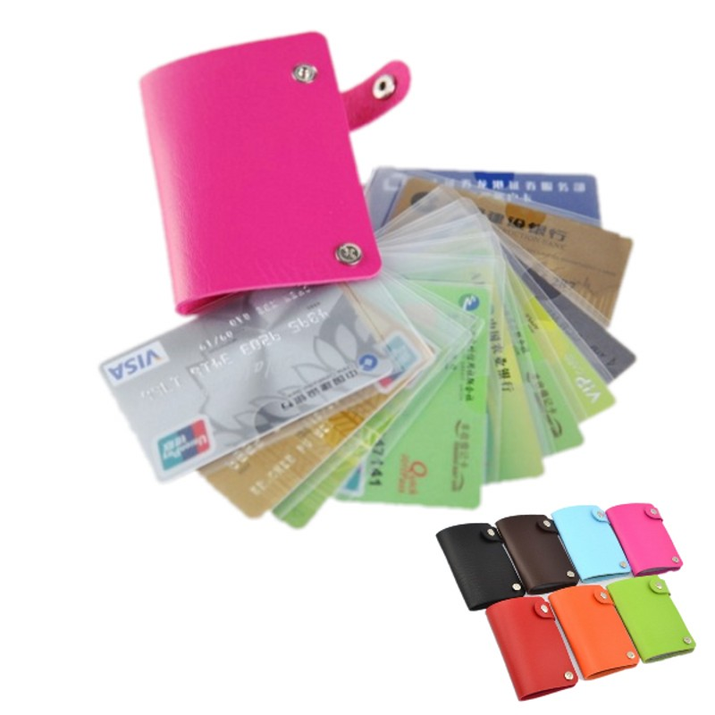 Multifunction Rotary Credit Card Holders Card Bag PU Cover ...