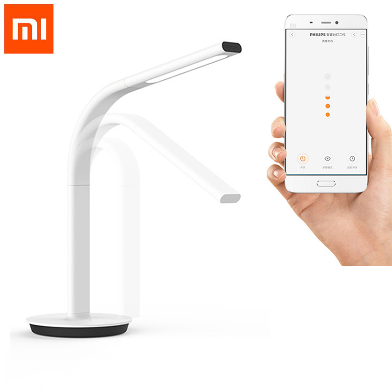 ФОТО Original Xiaomi Mijia Smart DeskLamp LED Light Table Lamp 2nd Desklight 4000K 10W Dual light Support IOS Android APP Control