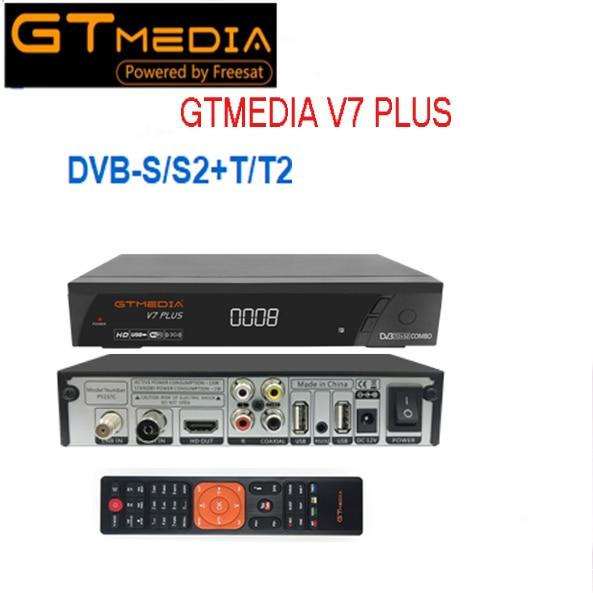 GTmedia V7 Plus combiné dvb t2 dvb s2 récepteur Satellite Suport H.265 PowerVu Biss clé Ccam Newam Youtube vs alphabox x6 Combo-in Récepteur de télévision par satellite from Electronique    1