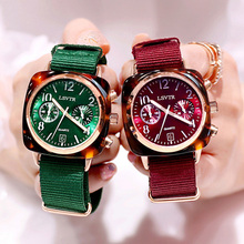 Fashion Square Watches For Women Brand Luxury Quartz Nylon Watchband ladies Wristwatch Designer Casual Clock Gift Female