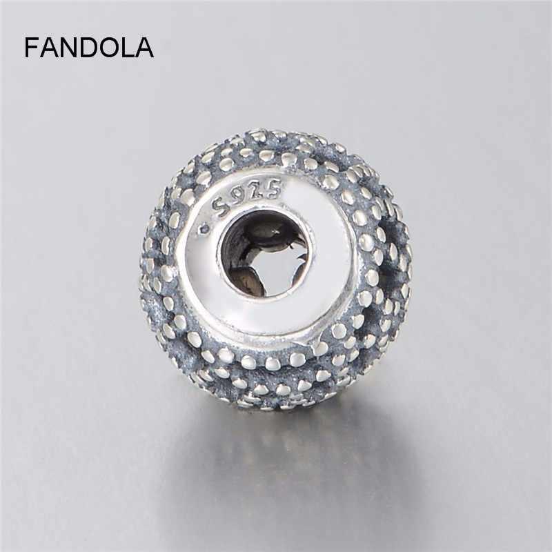 El encanto de la felicidad de Plata de Ley 925 auténtica se adapta a pulseras de Pandora pulseras essence brazaletes de plata 925 cuentas de joyería para la fabricación de joyas