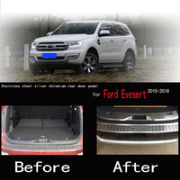 Karcng for Ford Everest 2015 2018 Inner and Outer Reserve Box Stainless Steel Threshold Pedal Cover