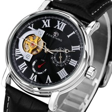 WINNER Retro Men Women Automatic Mechanical Watch Tourbillon Lover's Wristwatch Leather Band Luminous Hands Sub-dial Working