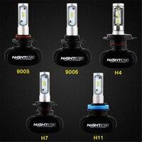 NIGHTEYE 12V 50W H4 H7 H11 9005 HB3 9006 HB4 Car LED Headlights Bulbs White Fog Lamps 8000LM 6500K Automobile Headlamp Bulb