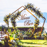 Free shipment pentagon Arch flower Metal Arch Centerpiece for Wedding supply Party Event Decoration 2.5m Tall*2.5m Wide