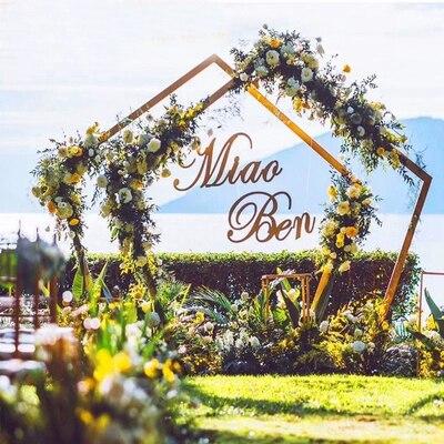Livraison gratuite pentagone arche fleur métal arche pièce maîtresse pour approvisionnement de mariage fête événement Decoration-2.5m grand * 2.5 m de large