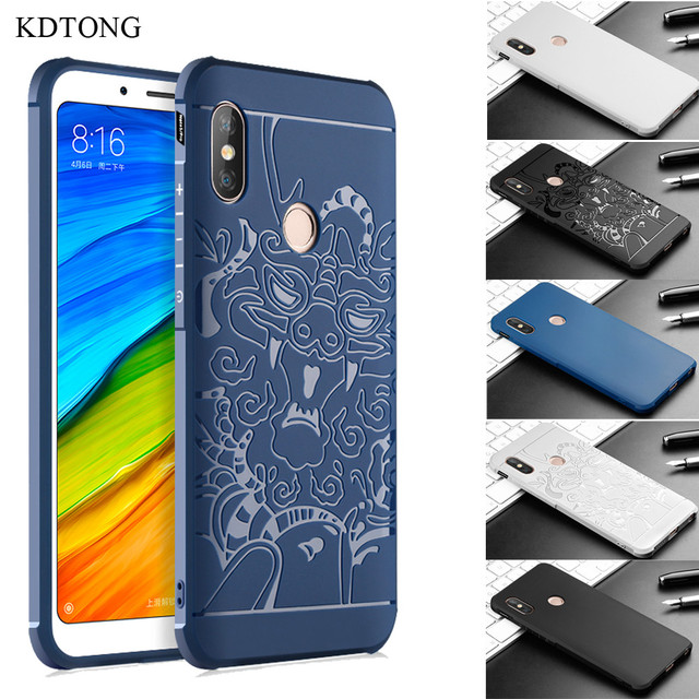 brand new 0de8d 39400 US $5.52 21% OFF|KDTONG Cover For Xiaomi Redmi Note 5 Case Soft Silicone  TPU Dragon Pattern Cover Case sFor Coque Xiaomi Redmi Note 5 Pro Case -in  ...