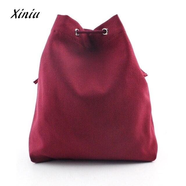 2017 Women Messenger shoulder Bag Women Fashion Canvas Drawstring Handbag Shoulder Bag Large Tote Ladies Purse