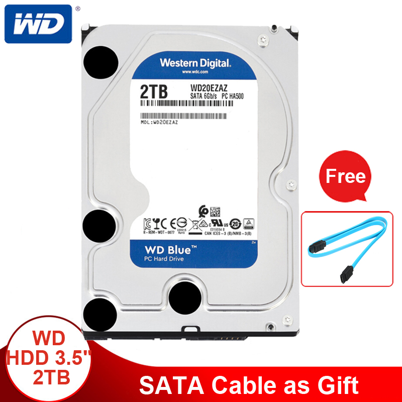 Western Digital 2TB 3 5 WD Blue HDD Internal Hard Disk Drive Desktop 5400 RPM SATA