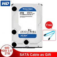 Western Digital 2TB 3.5'' WD Blue HDD Internal Hard Disk Drive Desktop 5400 RPM SATA 6Gb/s 64MB Cache Hard Drive For Computer PC