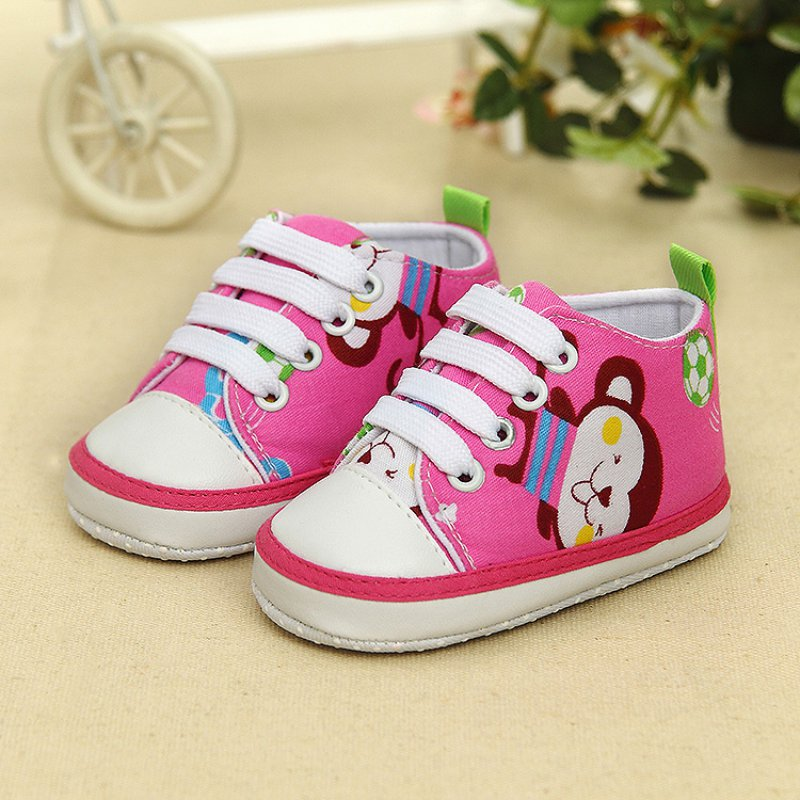 0-18M Newborn Kids Baby Boy Girl Sneakers Lace Soft Sole Toddler Shoes New