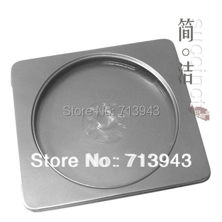 130MM 145MM 11MM cd case DVD CD metal box with silver color and pvc window