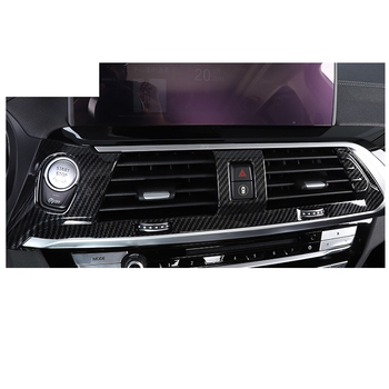 Lsrtw2017 Carbon Fiber Abs Car Dashboard Middle Air Vent Trim Frame for Bmw X3 2018 2019 2020