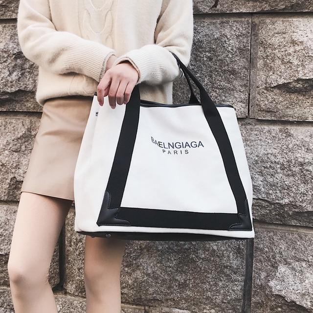 New Luxury Famous Brand Design Hot Lady Canvas Handbag Single Shoulder Bag  Crossbody Messenger Bag Women 02452f1aa5ec