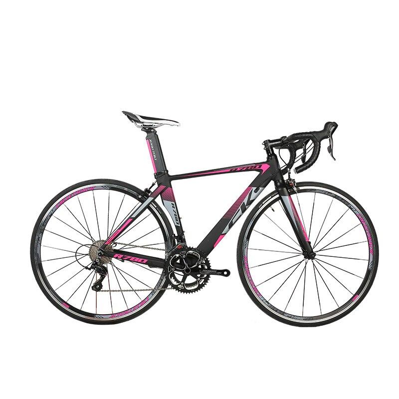 RichBit Nouvelle Route Ultra Léger Vélo de Course 18 Vitesses 9 Vitesses Cassette Fourche En Fiber De Carbone Shimano 3500 700C Vélo De Route vélo De route