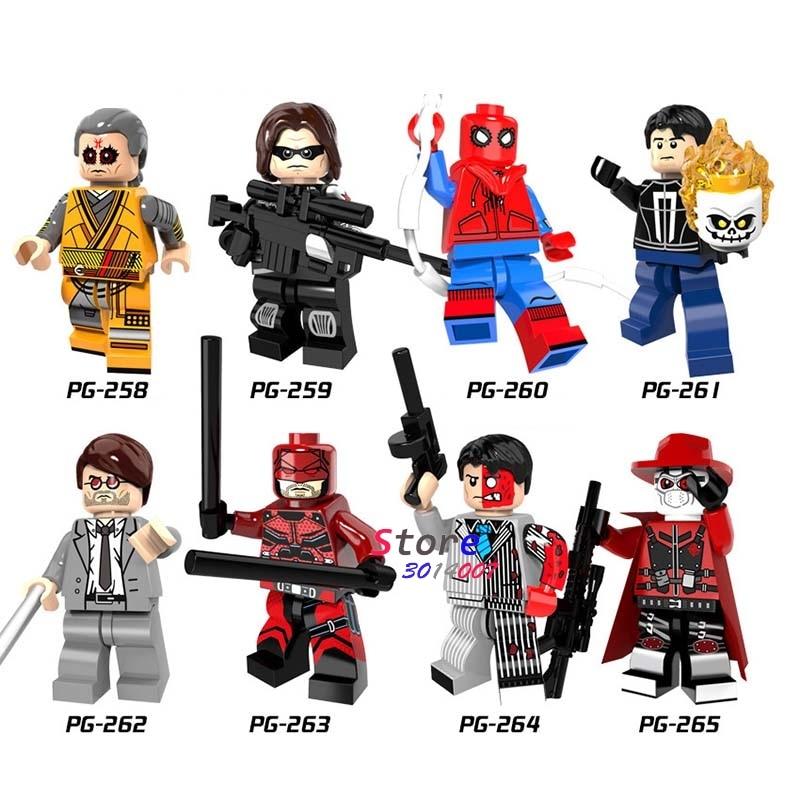 Efficient 50pcs Super Hero Marvel Spiderman Kaecilius Daredevil Matt Murdock Ghost Rider Comics Building Blocks Bricks Hobby Toys For Boys Catalogues Will Be Sent Upon Request Toys & Hobbies