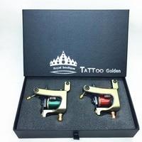 2PCS Professional Copper Tattoo Machine Gun With 10/12 Wrap Coils Liner & Shader Rotary Machine Tattoo Guns Supplies maquina de