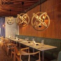 Amerikaanse Land Scandinavische Stijl Industriële Wind Moderne Creatieve Persoonlijkheid Cafe Decoratieve Verlichting 3 Hennep Kroonluchter