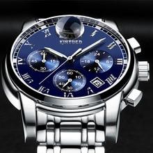 2017 New Luxury Watch Brand KINYUED Quartz Watch Men Steel Fashion Clock Male Luminous Waterproof Watches
