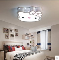 T New Lovely Sweety Kitty Creative Ceiling Light For Children S Room Colorful Lamps Bedroom Home