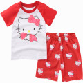 Children's Batman Pajamas Minnie Summer Short-sleeved Kids Pyjamas Hello Kitty Boys Girls Pijamas Baby Sleepers Sleepwear