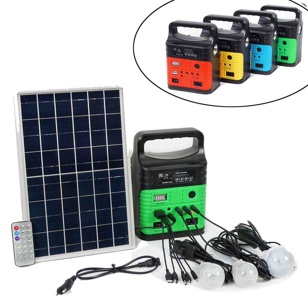 10W Portable Red Solar Generator Kit: Solar Panel Generator LED Light USB Charger element peq 15 la 5c uhp appearance red