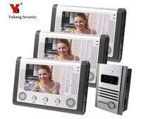 Yobang безопасности видео телефон двери с 7 ЖК дисплей экран ИК камеры домофон видео домофон Водонепроницаемый пинхол камера