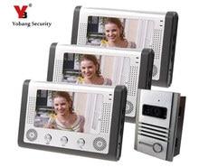 Yobang Security video door phone with 7″ LCD screen IR camera door intercom phone Video Interphone waterproof pinhole camera