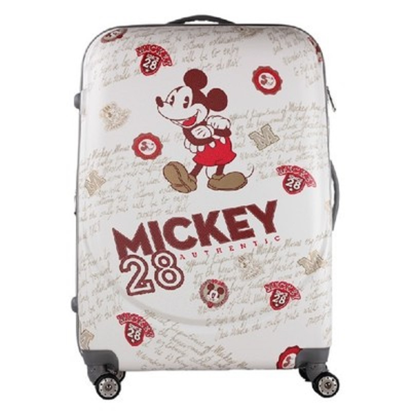 CARRYLOVE perfect Large capacity, Cartoon mouse 20/24/28 inch size PC Rolling Luggage Spinner brand Travel SuitcaseCARRYLOVE perfect Large capacity, Cartoon mouse 20/24/28 inch size PC Rolling Luggage Spinner brand Travel Suitcase