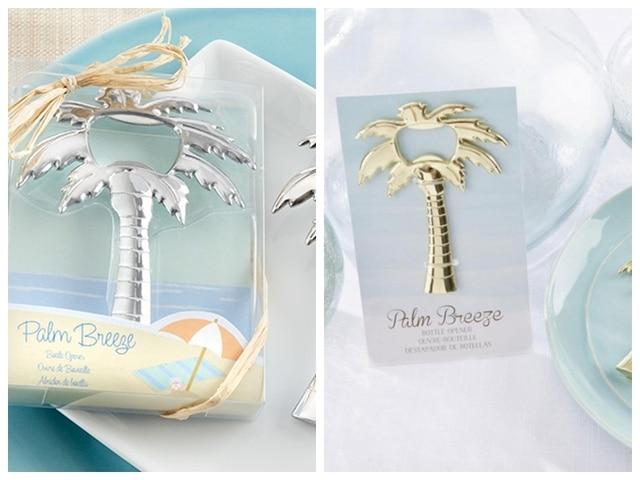 5 Pieces/lot) Beach Wedding Favors For Guests Palm Breeze Gold Palm ...