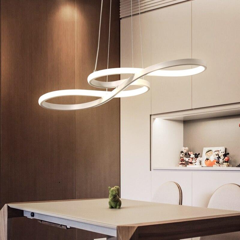 Moderne Led Pendentif Lampe Suspendue Lustre Lampes de Plafond pour Salle À Manger Pendentif Éclairage pour Maison avec Télécommande