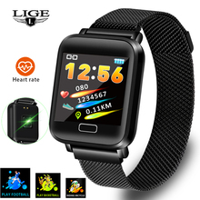 LIGE 2019 New Smart Bracelet Heart Rate Blood Pressure Monitoring Fitness Tracker Sport Wristband Pedometer Band+Box