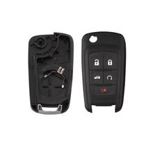 цена на Car Replacement Folding Flip Remote Key Case Shell For Chevrolet Camaro Cruze Equinox Malibu Sonic Spark Volt Entry Fob