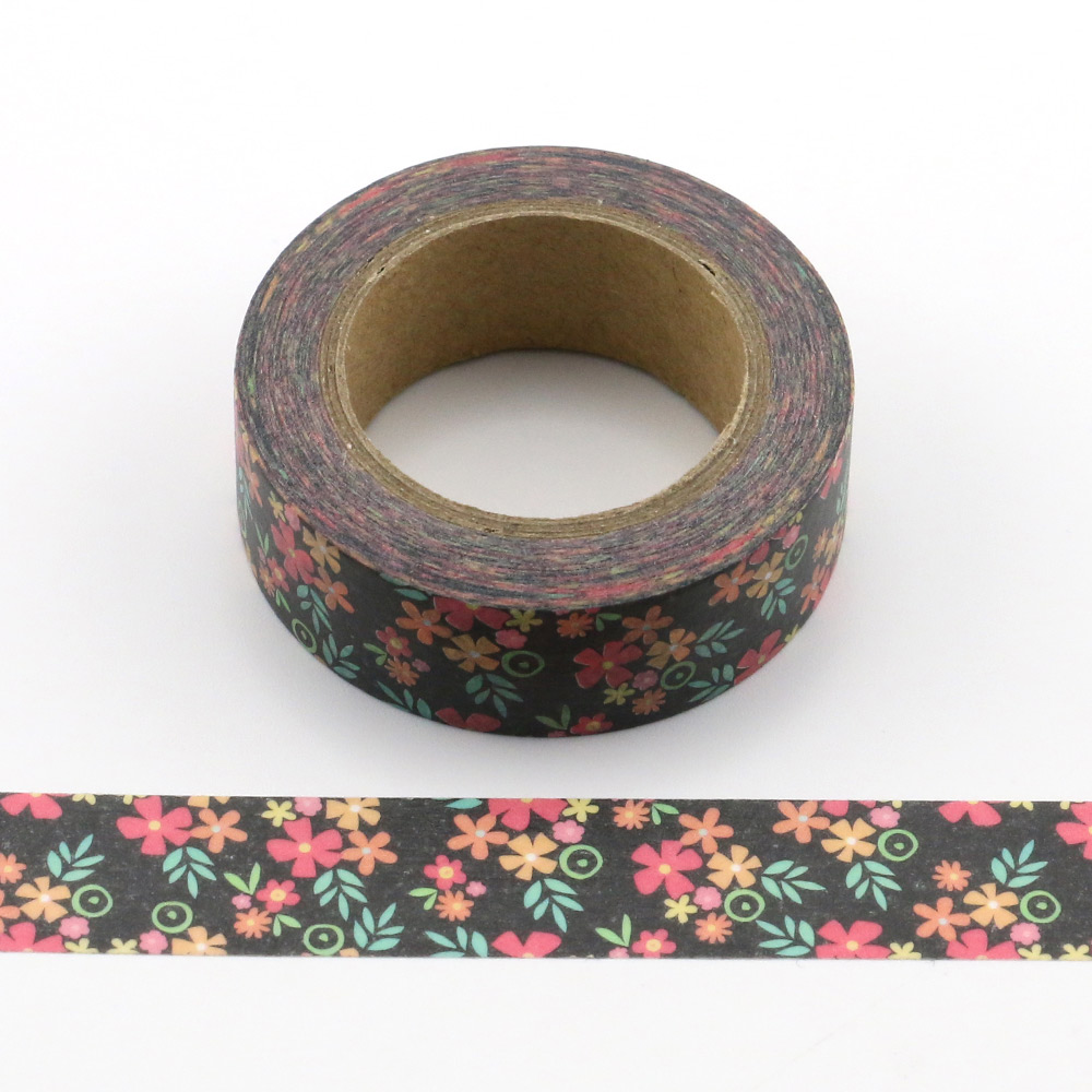 1pc colorful small flowers Decorative Washi Tapes Paper DIY Scrapbooking Adhesive Masking Tapes 10m School Office Supply in Office Adhesive Tape from Office School Supplies