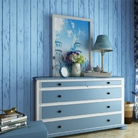 Wallpapers Youman Modern Self Adhesive Wallpaper Mediterranean Style Wallpaper For Kid Room Living Room Bedroom Blue Striped Art